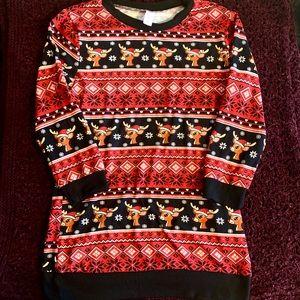 Rudolph Christmas night shirt. No boundaries